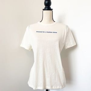 ZARA 'Dressed for a Fashion Show' graphic tee